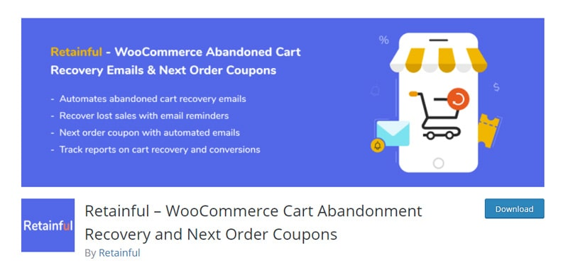 Retainful - WooCommerce Abandoned Cart Recovery emails