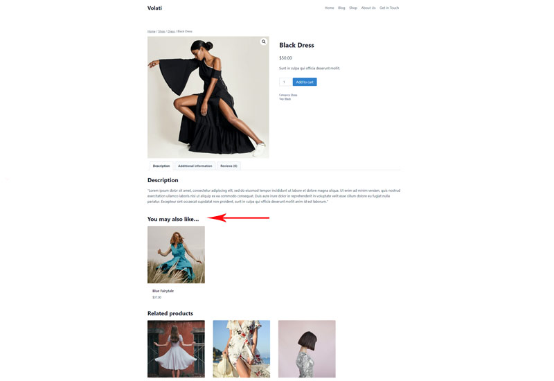 Upsells WooCommerce products