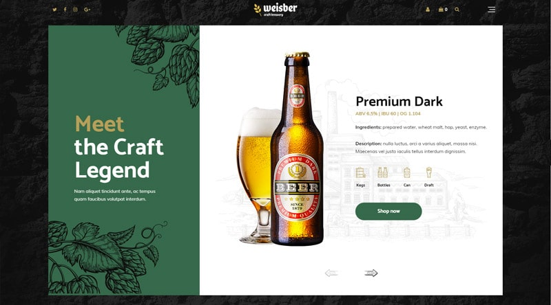 Weisber WordPress Theme
