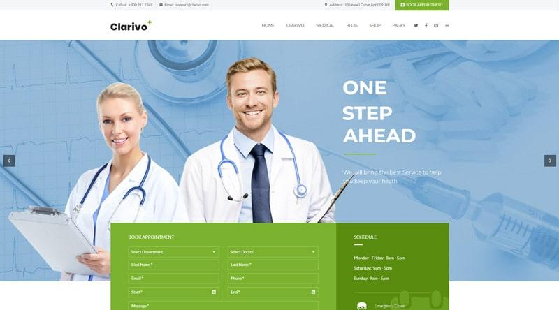 Clarivo WordPress Themes