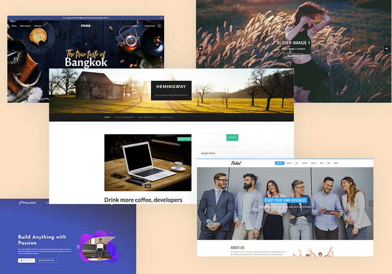 Free Parallax WordPress Themes for Any Niche