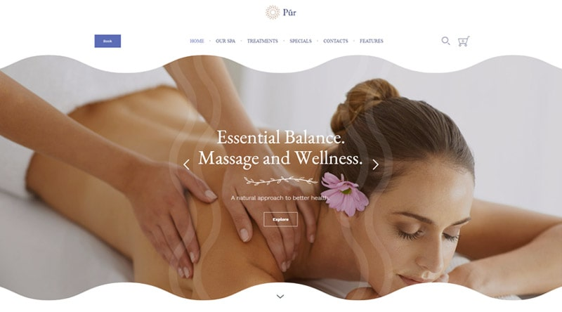 Pur Massage WordPress theme