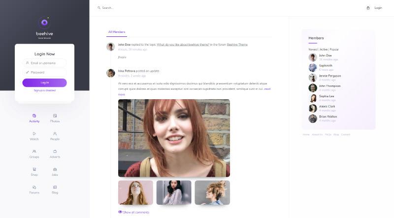 Beehive WordPress Theme