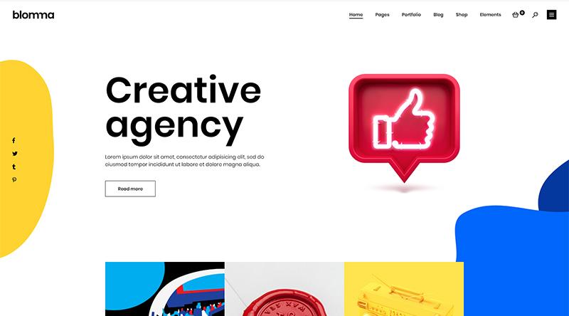 Blomma WordPress theme