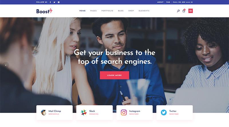 BoostUp WordPress theme