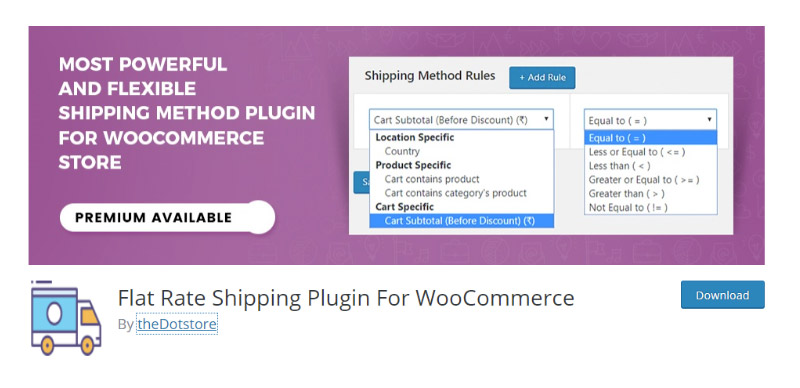 Flat Rate Shipping Plugin For WooCommerce