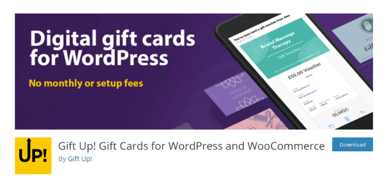 Gift Up Gift Cards for WordPress and WooCommerce