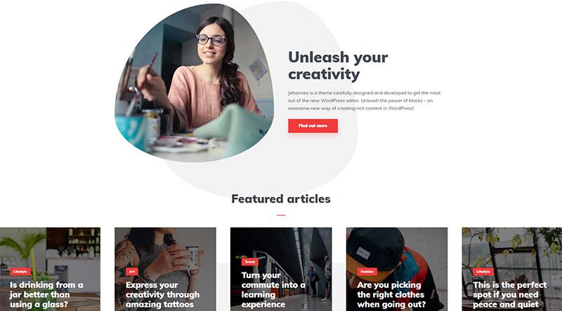 Johannes WordPress theme
