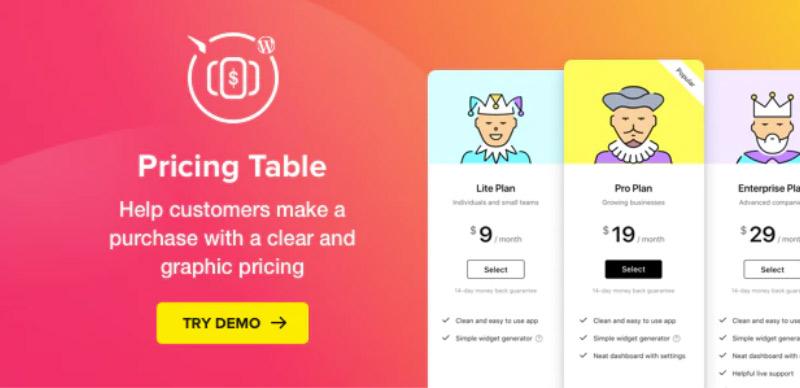 Pricing Table — WordPress Pricing Table Plugin