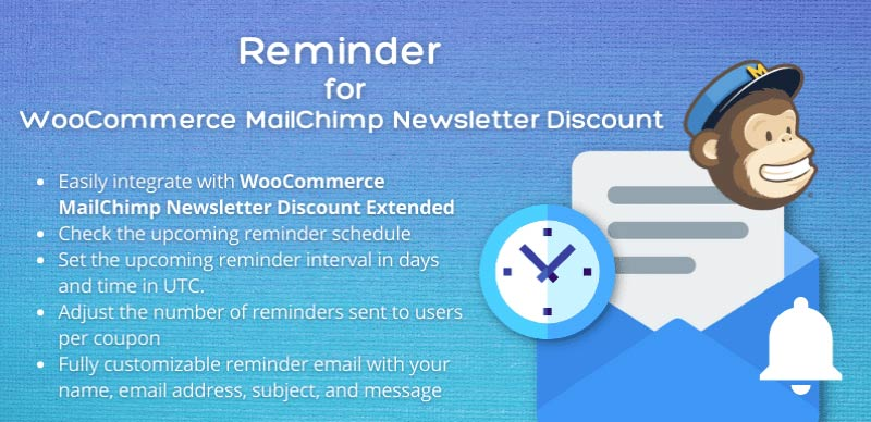 Reminder For MailChimp Newsletter Discount