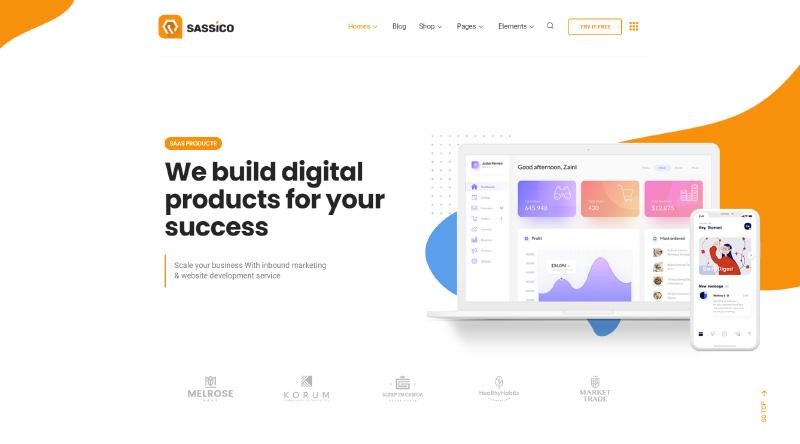 Sassico WordPress Theme