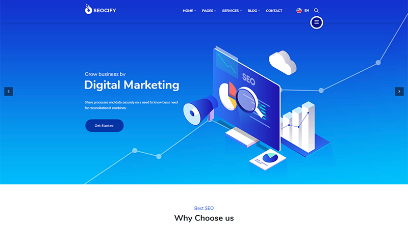 Seocify WordPress theme