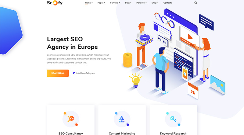 Seofy WordPress theme