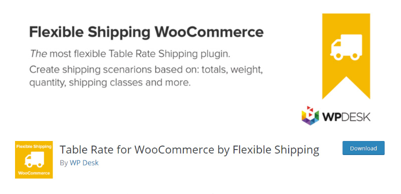 Table Rate for WooCommerce by Flexible Shipping
