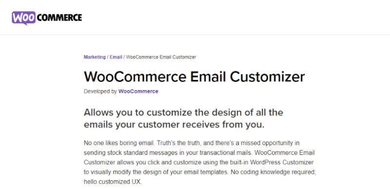 WooCommerce Email Customizer