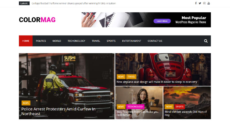 ColorMag Game WordPress Theme