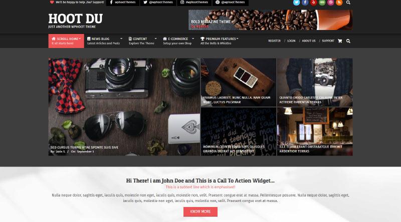 Hoot Du WordPress Theme