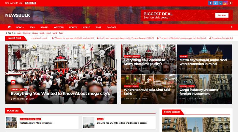 Newsbulk WordPress Theme