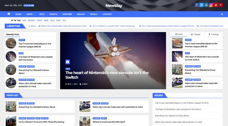 Newslay WordPress Theme