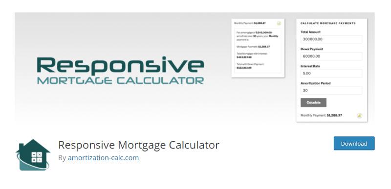 Responsive Mortgage Calculator