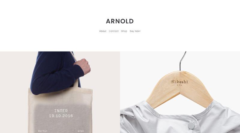 Arnold WordPress theme
