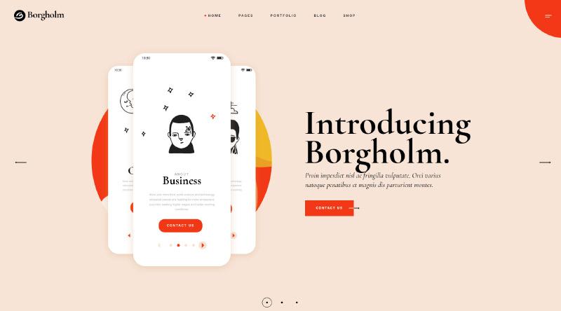 Borgholm Unique WordPress Theme