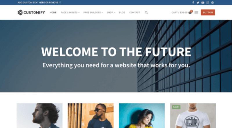 Customify WordPress Theme