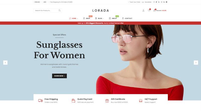 Lorada WordPress Theme