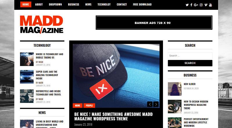 Madd Magazine WordPress Theme
