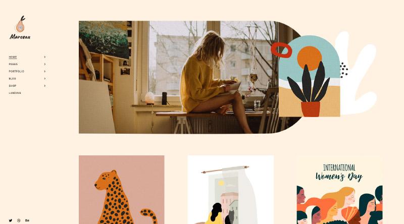 Marceau Unique WordPress Theme
