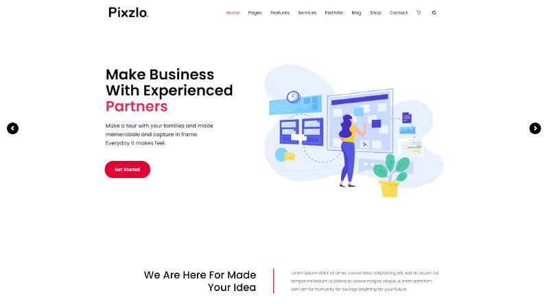 Pixzlo WordPress Theme