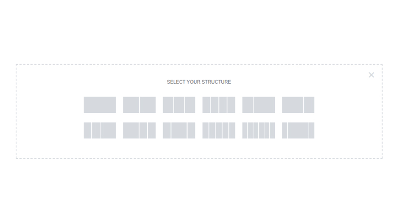 Select your Elementor column structure