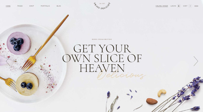 Swiss Delight WordPress Theme
