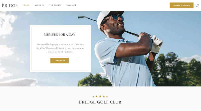 Bridge golf WP Theme