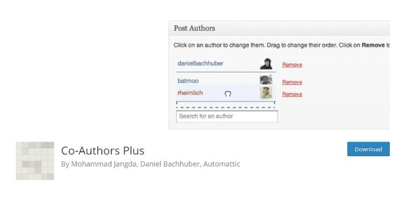 Co-Authors Plus plugin