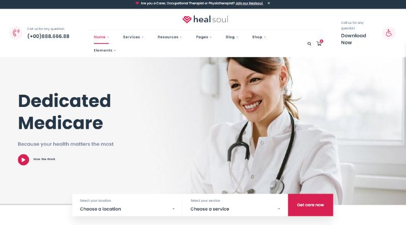 Healsoul WordPress Theme