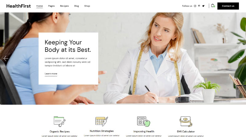 HealthFirst Healtcare WordPress Theme
