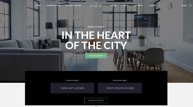 Hotel Xenia WordPress Theme