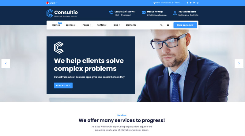 Consultio WordPress Theme
