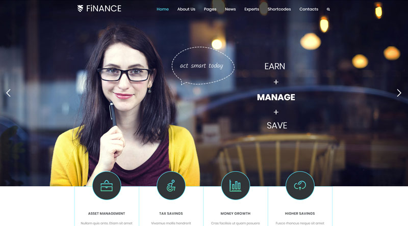 Finance Consultant WordPress Theme