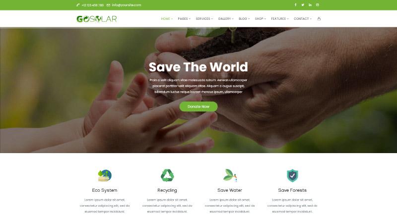 GoSolar WordPress Theme