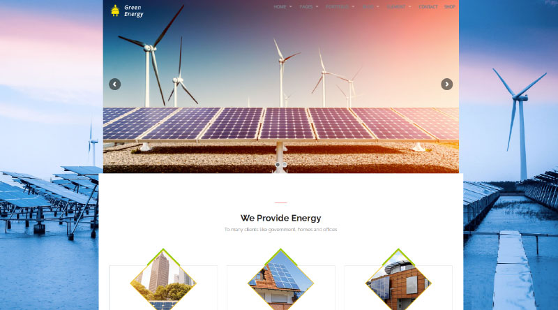 Green Energy WordPress Theme