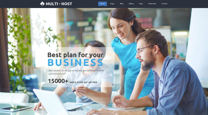 Multi Host WordPress Theme