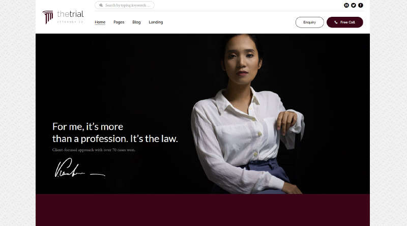 The Trial Consulting WordPress Theme