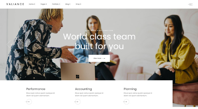 Valiance Consulting WordPress Theme