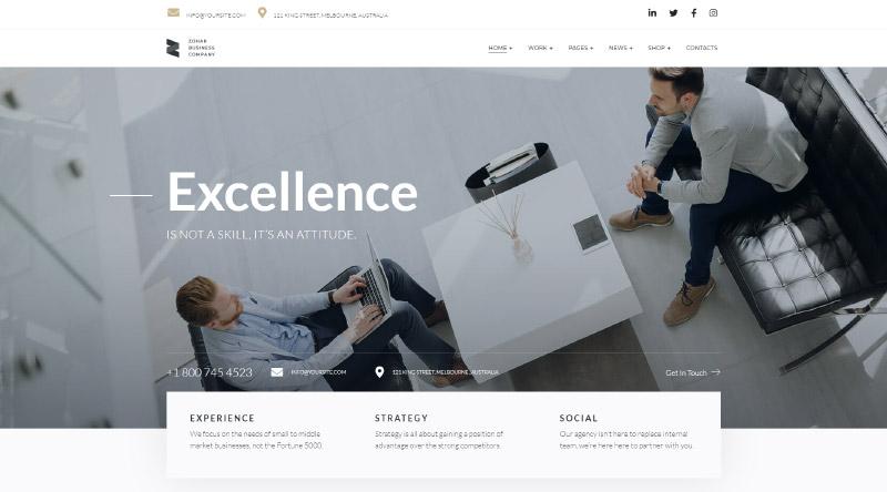 Zohar WordPress Theme