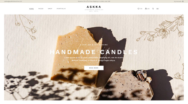 Askka Soap WordPress Themes