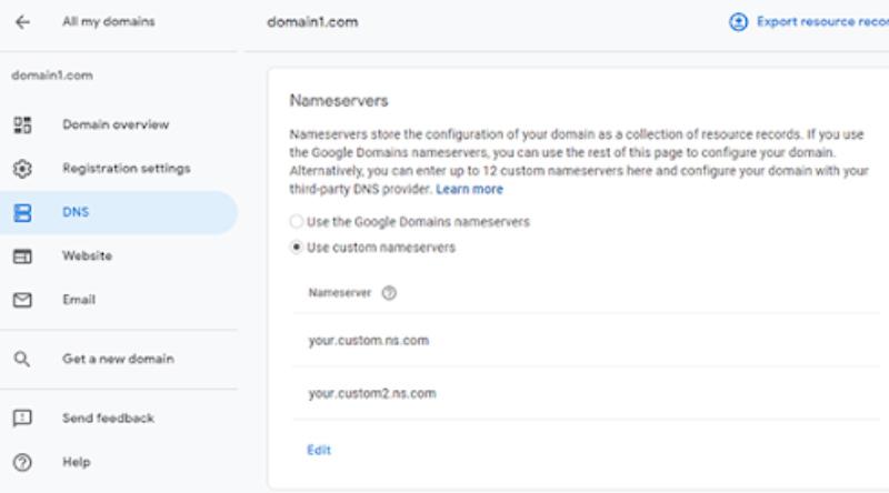 Configure Custom Domain DNS Records