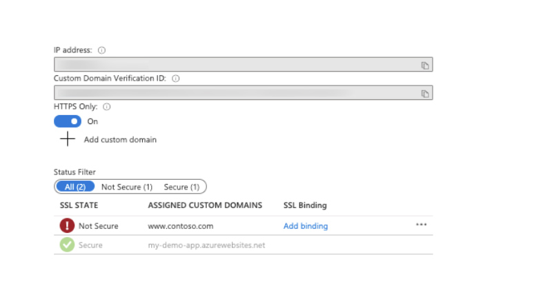 Configure a custom domains DNS records