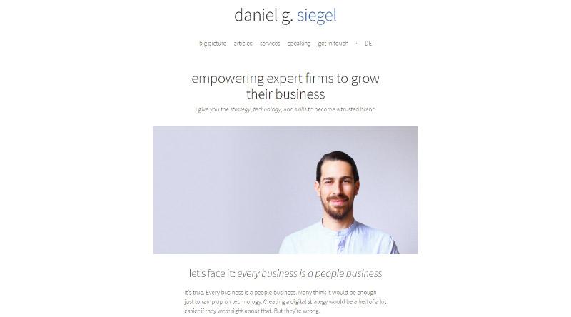 Daniel Siegel – Strategy Consultant